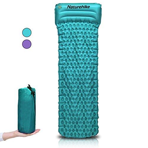 Aufblasbare Luftmatratze | kompakt und feuchtigkeitsabweisend ultraleichte Camping-Luftmatratze | mit selbstaufblasenden Kissen, fürs Wandern, Rucksackreisen und Zelte, von Progressive Online., himmelblau