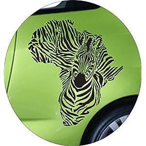 Autoaufkleber Afrika Zebra Farbe Schwarz Größe 60x55cm