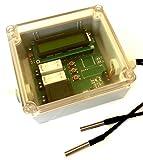 Danitech 3-Wege-Ventilsteuerung Mischventil Steuerung für Mischer Stellmotor 230V Antriebsmotor mit 2X Temperatur Sensoren