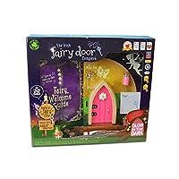 The Irish Fairy Door Company Glow in the Dark Pink Door