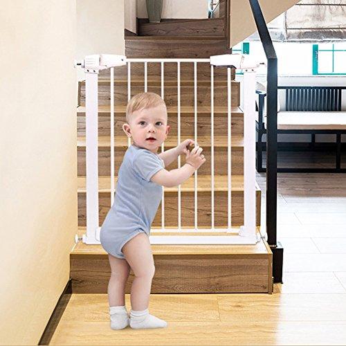 Türschutzgitter Extra Breites Baby-Tor-Haustier-Tür für Treppen-Tür-Innenweißen Metall Einfach, Zum des Wand-Beschützers 77-173cm Weit zu öffnen (Größe : 137-143cm) (Weit Hund Die Tore)