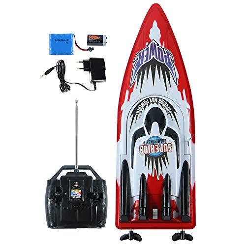 Link Co Elektrische Fernbedienung Boot Angeln Schnellboot Schiffsmodell Pools und Seen Fernbedienung Spielzeugboot,Red