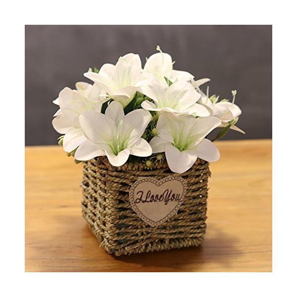 LLPXCC Flores artificiales Creativo muebles para el hogar mesa de comedor sala de estar de estilo europeo moderno…