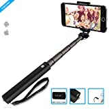 ZAAP NUSTAR4 Aluminium Premium(3rd Generation) Selfie Stick(Battery-Free) with In-built Remote Shutter | For iPhone, Andriod, Gopro & other Smartphones