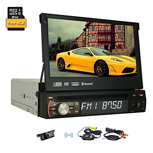 "Video stereo Bluetooth Car DVD GPS del veicolo 3D CD multimediale Sistema FM AM 1 din schermo LCD parti Autoradio Radio Receiver Audio 7 ""iPod logo EinCar supporto Wireless Backup Camera"