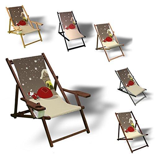 Printalio Voller Sack - Liegestuhl Bedruckt Balkon Garten Sonnenliege Relax Holz Terrasse | Ohne...