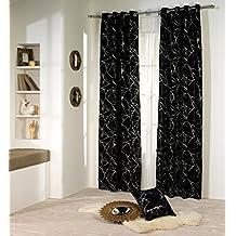 Rioma Celia 06 - Cortina con ollados, 140 x 270 cm, color negro