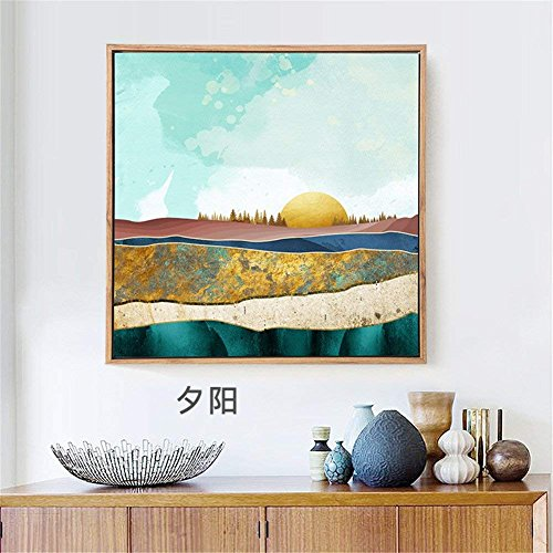 Unbekannt Moderne, Minimalistische Lounge Lack Dekoration Walking Büro Wandbilder Rezeption, 40 * 40 cm 8217, Handwerk Home Decor Wall Gemälde auf Leinwand