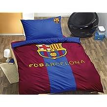 Ropa de cama original del FC Barcelona 140x200+65x65 cm, Öko Tex, algodón - nuevo