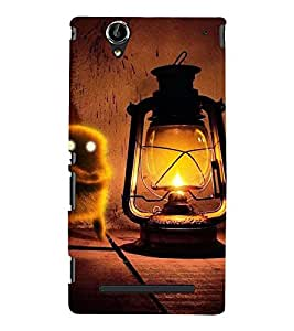 VINTAGE LANTERN WITH AN ANIMATED BIRD 3D Hard Polycarbonate Designer Back Case Cover for Sony Xperia T2 Ultra :: Sony Xperia T2 Ultra Dual
