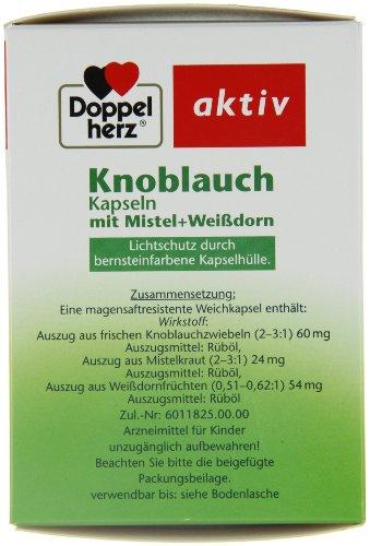 Doppelherz Knoblauch Kapseln mit Mistel und Weißdorn, 270er - 4