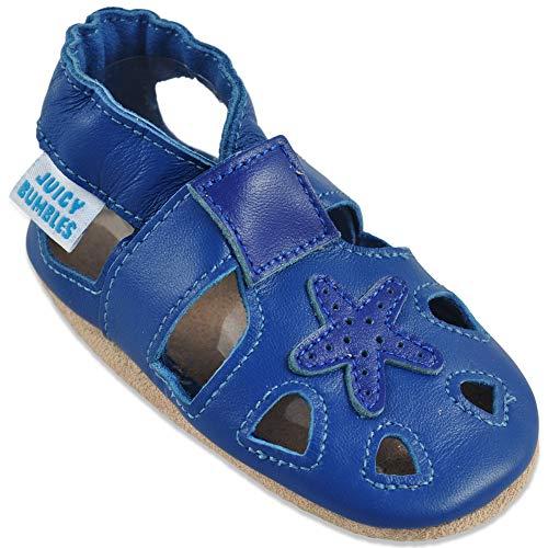 86b2b20877b4e2 Sandales Bebe Garcon - Chaussure Enfant Garcon - Chausson Cuir Bébé -  Spartiates - Étoile Bleue