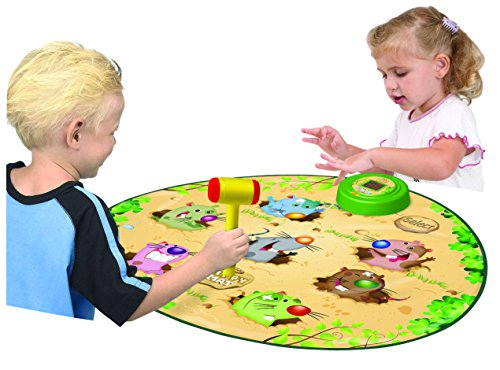 Constructive Playthings Smack-the-Moles Play Mat - Teaches Hand-Eye Coordination and Visual Acuity - Fun and Portable - BPA and PVC Free by Constructive Playthings