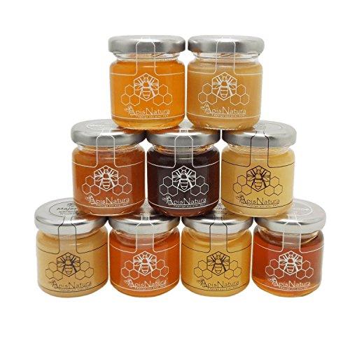"""Probehonig Set """"Honige aus aller Welt"""", 50g von ApisNatura (flüssig, fein cremiger Blüten, Honigtau-Honig, herb, süß-herb, süß)"""