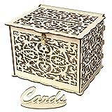 SM SunniMix Caja de Madera de Boda con Cerradura para Llevar Dulces Chocolates - B
