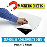 #10: Store2508 Self Adhesive Sticker Flexible Magnet Sheet / Magnetic Sheet A4 Size (2 Sheets)