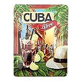 Nostalgic-Art 26143 Open Bar - Cuba Libre   Retro metalen bord   Vintage bord   Wanddecoratie   Metaal   15x20 cm