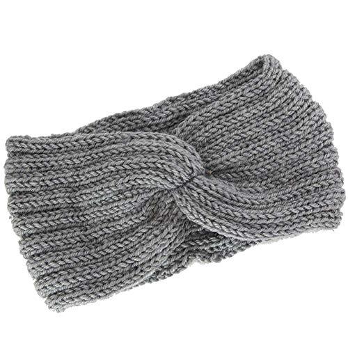 Mdurian warme stirnband frauen winter strickwolle klassische stretch sport kopf wickeln für mädchen ohrwärmer, hellgrau