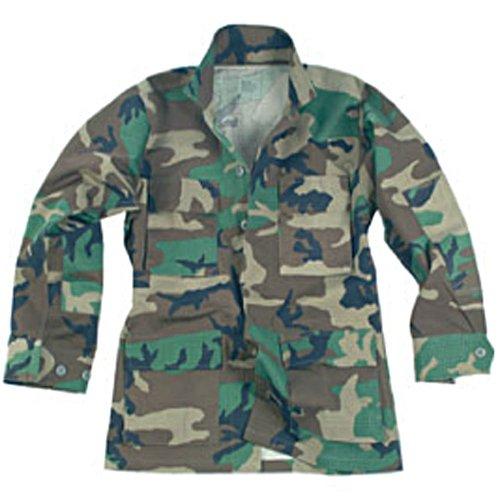US Feldjacke BDU Ripstop, woodland S-XXL (XL) Bdu Woodland Camo