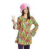 Kostümplanet Hippie-Kostüm Damen Top Oberteil bunt sixties 60er Jahre Größe 44/46