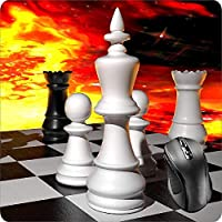 BGLKCS Mouse Pad Fabric Topped Rubber Backed Chess Board Game Knight King Queen Black