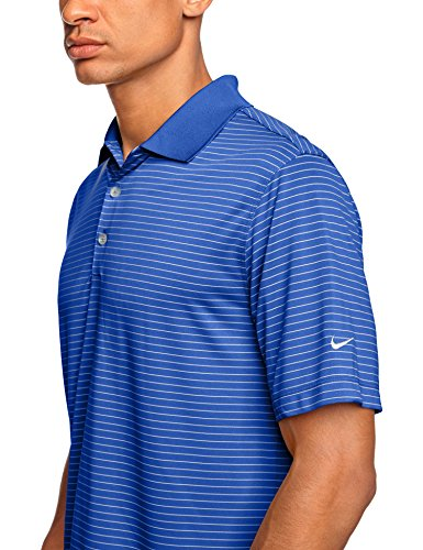 NIKE Herren Polohemd Victory Stripe Game Royal/White