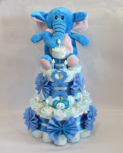 'pañales para tartas-Pañales para tartas con elefante Mordedor quemar ' azul azul