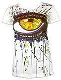 Mirror Damen T-Shirt - Im Auge der Kunst Kunst Minimalism Ibiza Goa Bali Trance (Weiß S)
