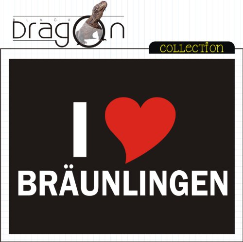 T-Shirt mit Städtenamen - i Love Bräunlingen - Herren - unisex Schwarz