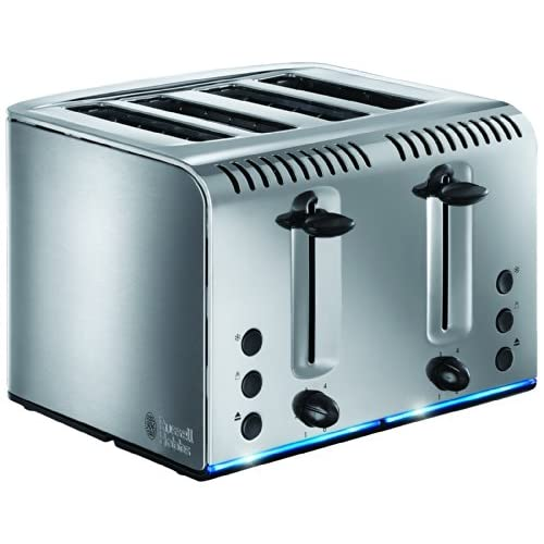 51I3W9FgokL. SS500  - Russell Hobbs 20750 Buckingham 4-Slice Toaster, Polished, 2100 W, Stainless Steel