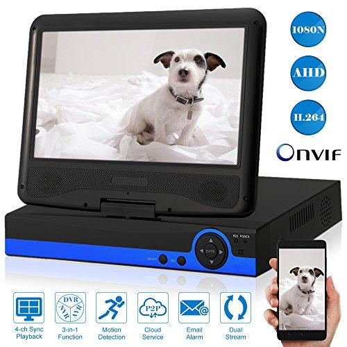 KKmoon-4CH-DVR-AVR-NVR-1080N-AHD-Monitor-101-LCD-H264-P2P-Deteccin-de-Movimiento-Alerta-por-E-mail-Control-Mvil-AndroidiOS-para-Cmara-de-Vigilancia-CCTV