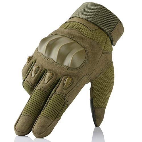 Motorrad Skidproof Rubber Hard Knuckle Fingerlose Handschuhe Half Finger Schutzausrüstung Outdoor Sports Racing Motocross ATV Green M -