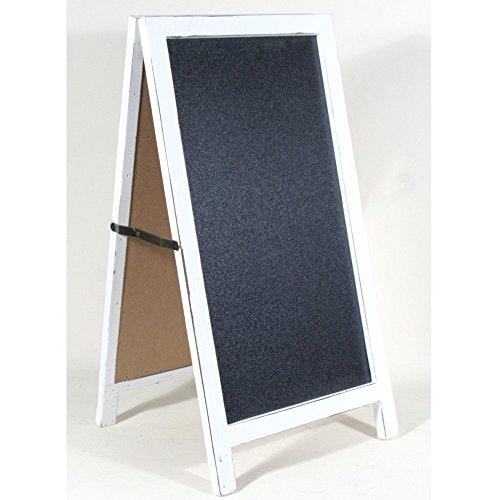 Werbeaufsteller / Kundenstopper 80cm hoch Diagonale 75 cm / 29,5 Zoll Kreidetafel zum Stellen beidseitig beschreibbare Schreibtafel aus FSC Holz inklusive Kreide