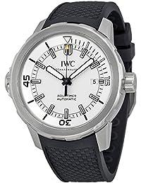 IWC MEN'S AQUATIMER 42MM BLACK RUBBER BAND STEEL CASE AUTOMATIC WATCH IW329003