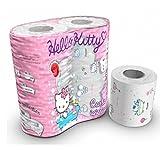 Hello Kitty Toilettenpapier, 3 Lagen, 200 Blatt (4 Rollen) Klopapier