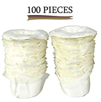 Greenco 100 Disposable Replacement K-cup Filters - Compatible with Keurig K-cup Coffee Machines