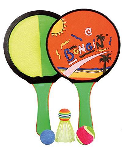 Preisvergleich Produktbild 3 in 1 Klettball Badminton Beach Ball Spiel 2 Schläger 3 Bälle