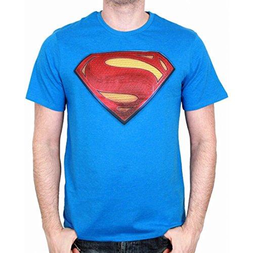 Tshirt Herren Batman versus Superman–Superman Shield Blau - Cobalt