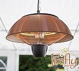 Firefly 1.500 Watt Infrarot-Heizstrahler (Halogen) Terrassenheizung, Deckenmontage, kupferfarben
