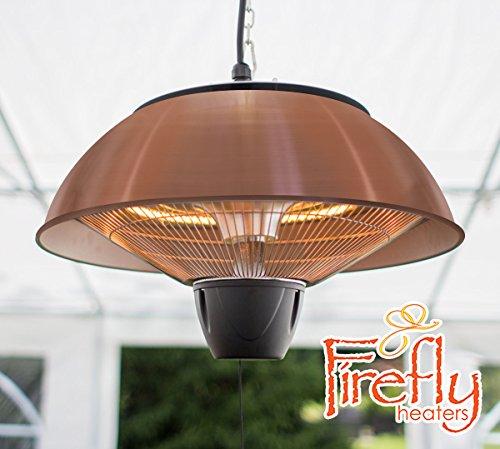 Firefly 1.500 Watt Infrarot-Heizstrahler (Halogen) Terrassenheizung, Deckenmontage, kupferfarben - 2