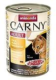 Animonda Carny Adult Katzen-/Nassfutter Rind, Huhn und Entenherzen für erwachsene Katzen (6 x 400 g)