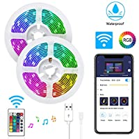 LuckLife WiFi LED Strip Lights, LuckLife 2M Waterproof Wireless Smart Phone App Controlled Light Strip Kit