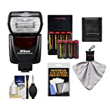 Nikon SB-700 AF Speedlight Flash with (8) Batteries Charger + Accessory Kit