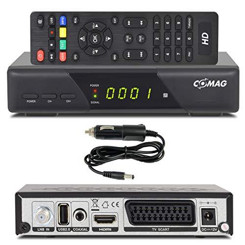 Comag HD25 Volks-Receiver + KFZ Kabel/Camping HDTV HD Satelliten Receiver SAT + USB 2.0 DVB-S2 SCART HDMI EasyFind Easy Find 1080p digital digitaler Satellitenreceiver 12V 230V