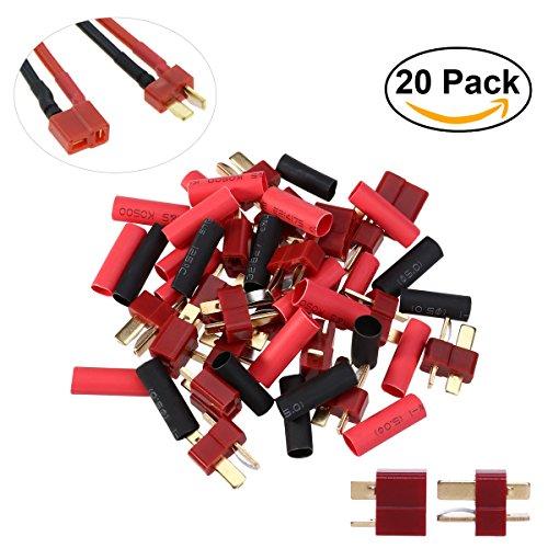 UEETEK T Plug Conectores Deans estilo macho y hembra para RC LiPo Batería   10 Pares