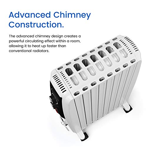 51I3dF84mtL. SS500  - Pro Breeze Oil Filled Radiator 2000W Advanced Chimney Circulation – Portable Electric Heater with Built-in Timer, 3 Heat Settings, Thermostat and Safety Cut-Off
