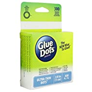 "Glue Dots 0.375"" Ultra Thin Dot Roll-300 Clear Dots"