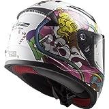10353J2114S - LS2 FF353J Rapid Mini Crazy Pop Youth Motorcycle Helmet S White Pink