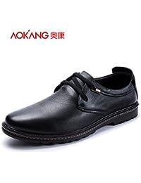 Aemember Scarpe Uomo confortevoli e calde uomo cotone caldo scarpe antiscivolo elevata usura pattini di guida, Scarpe Uomo Inverno ,40, nero