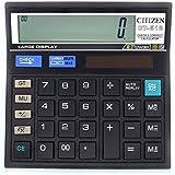 Calculatrice, Fonction Standard Calculateur de Bureau à 12 chiffres Alimentation solaire Calculatrices Noir
